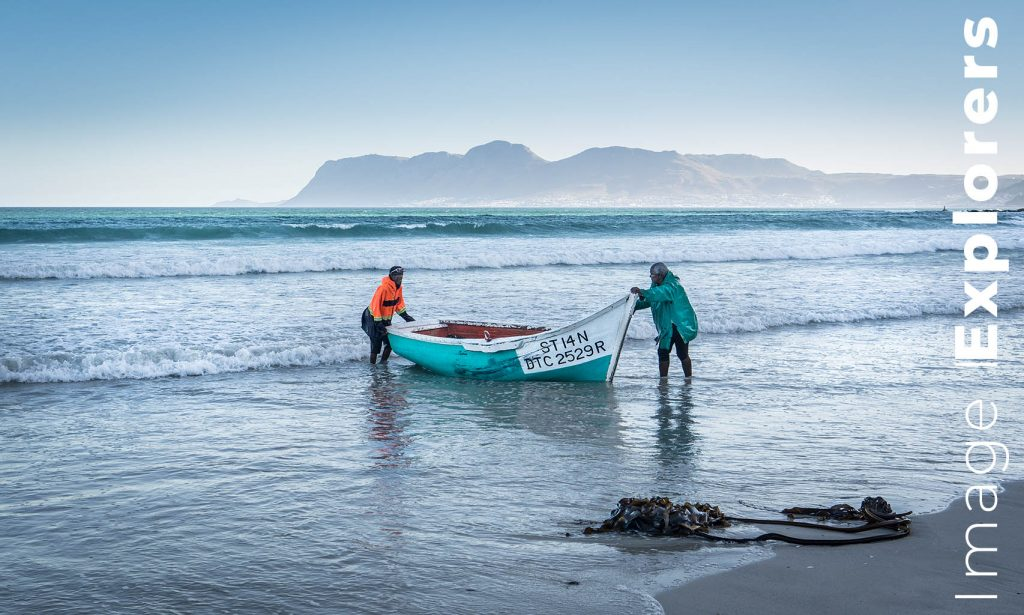 Fisherman at dusk Muizenberg