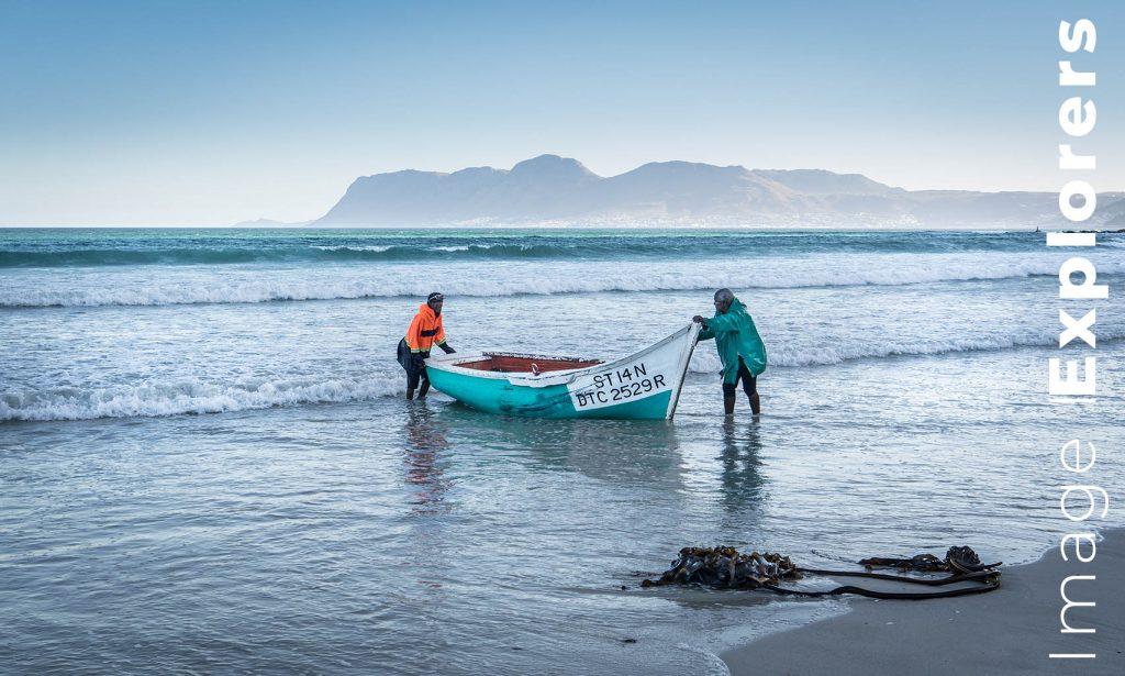 Fisherman at dusk Muizenberg