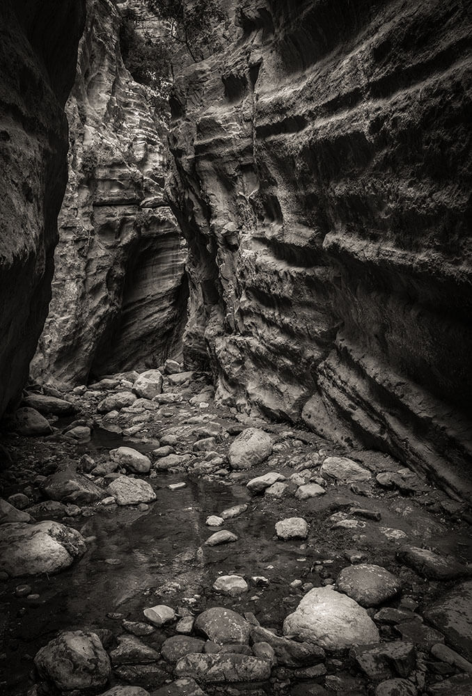 Cyprus photography trip to Avakas Gorge in Black and White