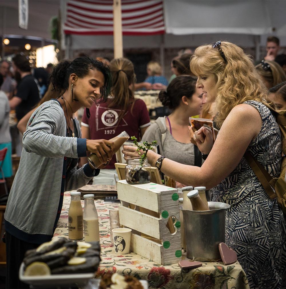 Woodstock Market, food hall