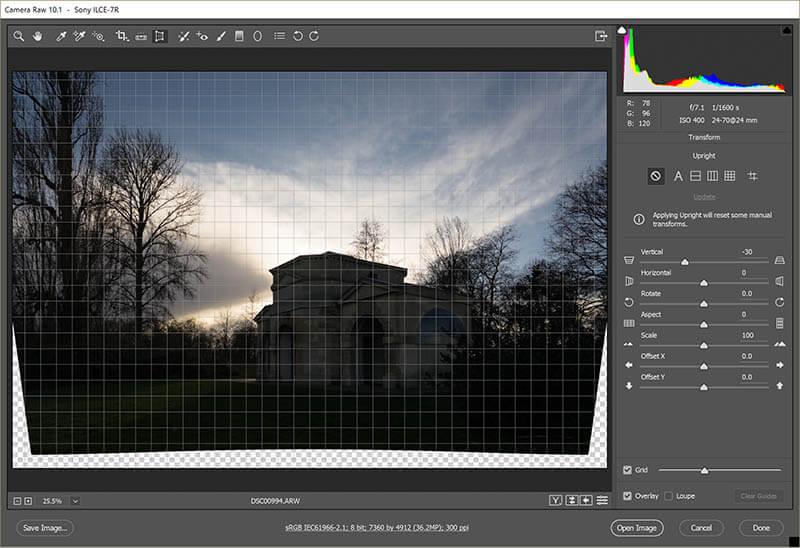 Straighten Image verticals