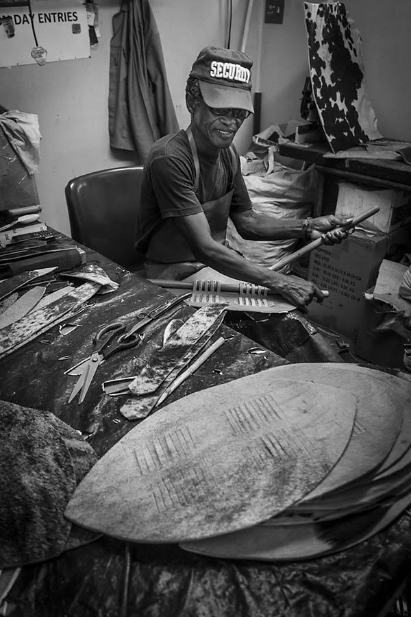 Traditional zulu shield maker