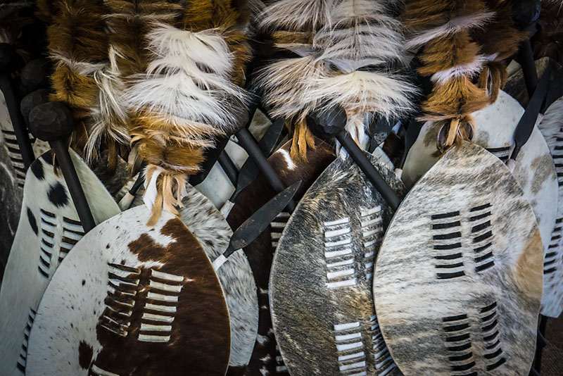 Traditional zulu shields