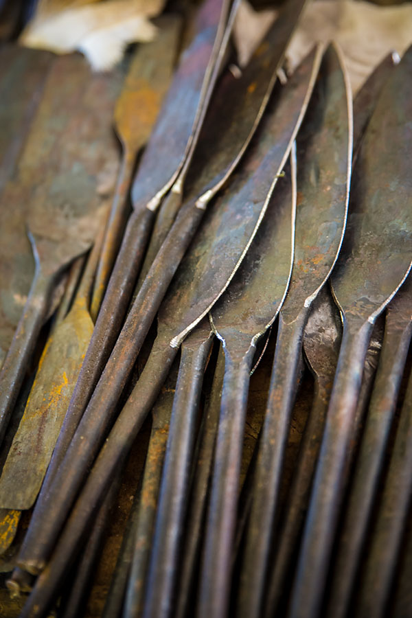 spears from traditional zulu shields