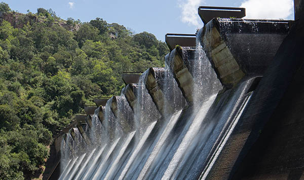 shongweni Dam, South Africa, Normal Water Exposure