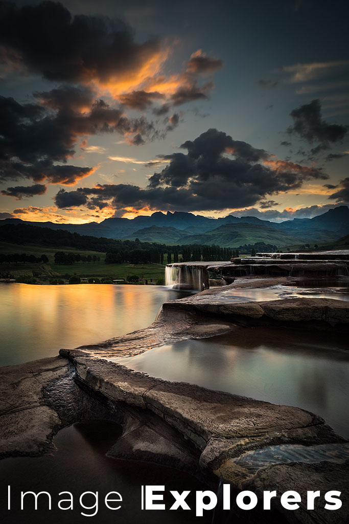 Bushmans Nek, South Africa, Long Exposure with neutral density filter to smooth out water