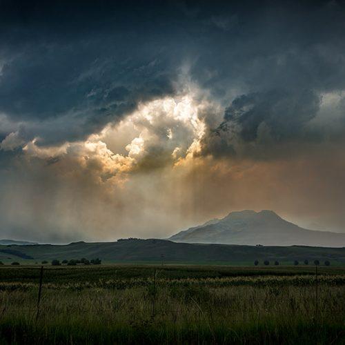 Storm over Drakensberg Bushmans Nek South Africa