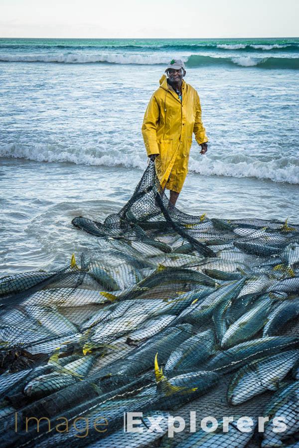 fisherman in Muizenberg