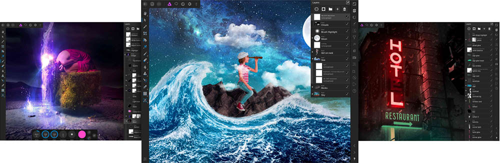ipad affinity photo screens