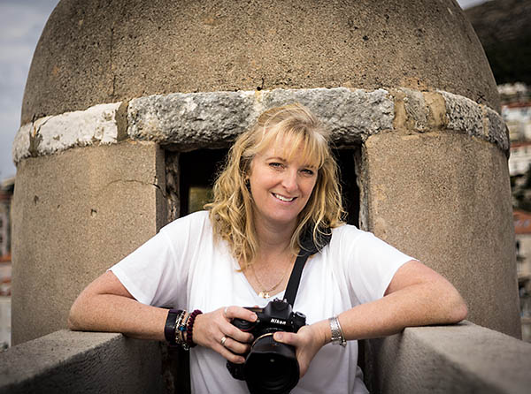 Ally with her best camera for travel photography