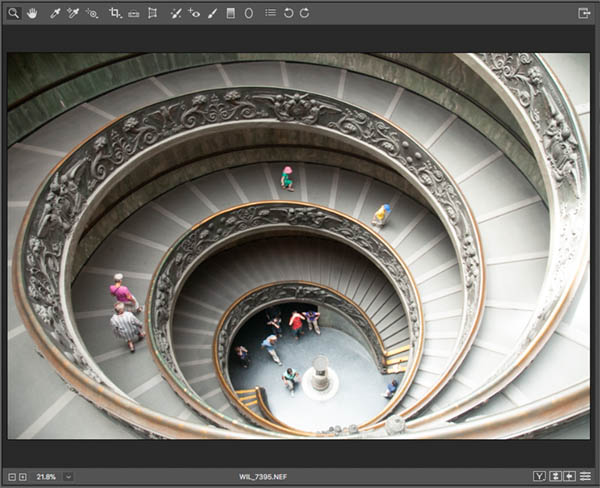 Before adjustment gradient in raw vatican staircase