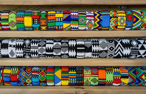 Traditional African beadwork at Woza Moya