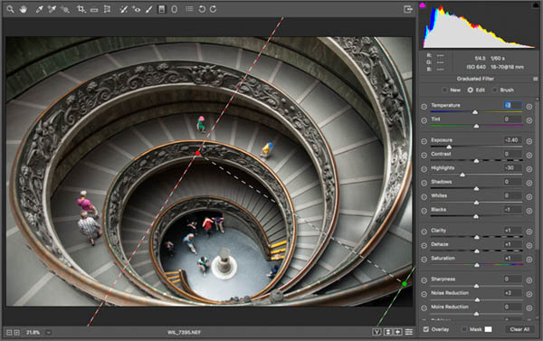after adjustment gradient in raw vatican staircase