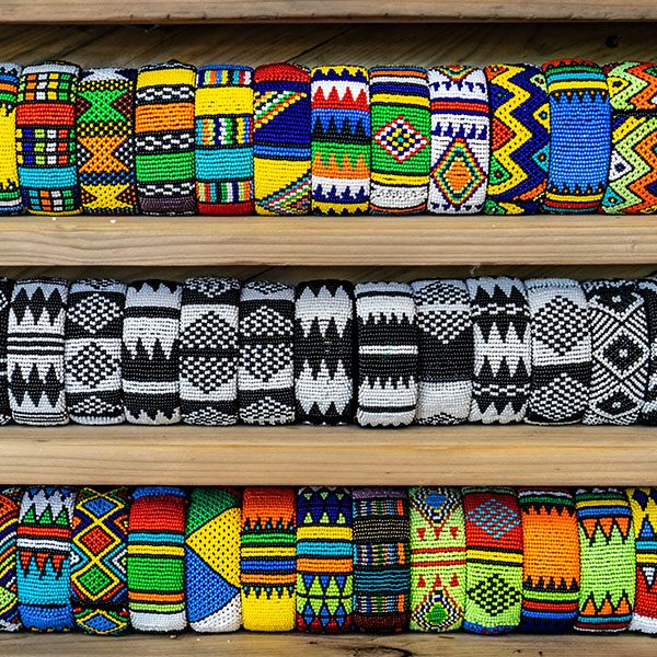 Beaded items in Woza Moya