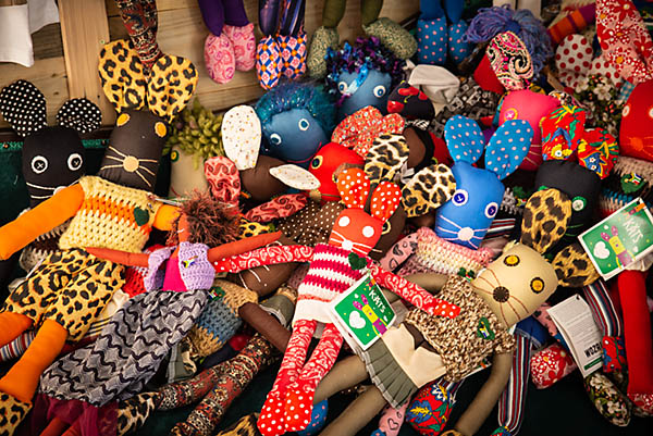 fabric dolls at woza moya craft shop