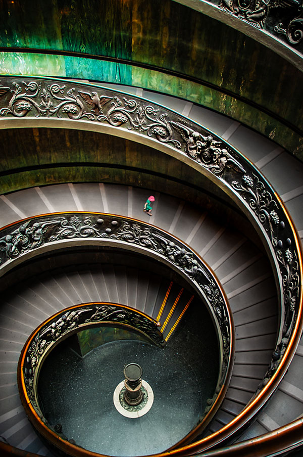 vatican museum staircase photography after