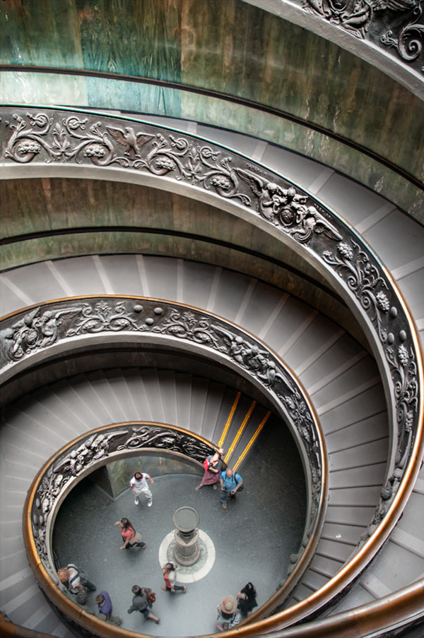 vatican museum staircase photography before