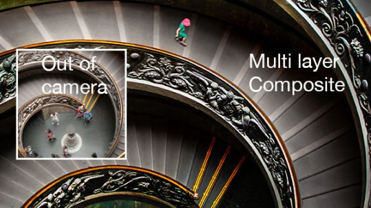 vatican staircase before after