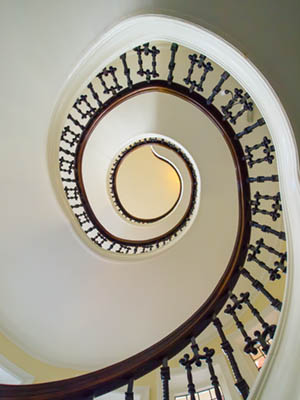 original image to Convert colour to black and white spiral staircase bournemouth