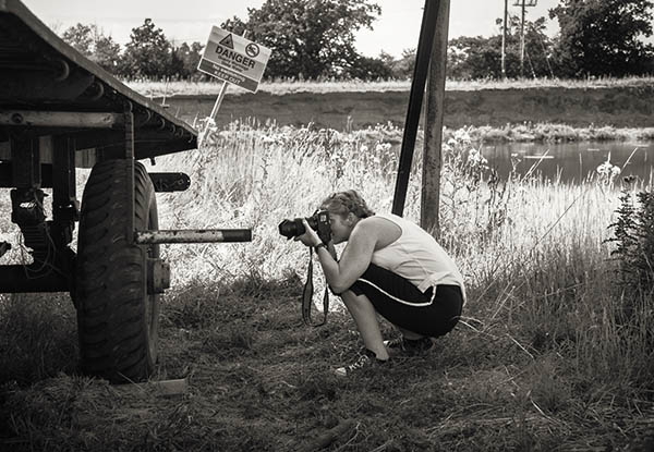 Ally Photographing wheel textures on UK farm