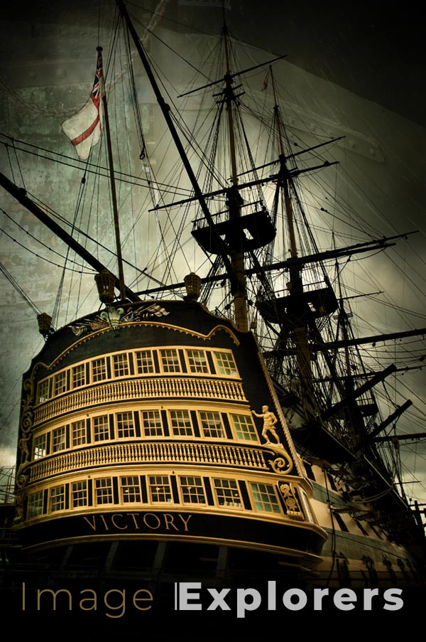Using layer for texture photography on HMS Victory hull