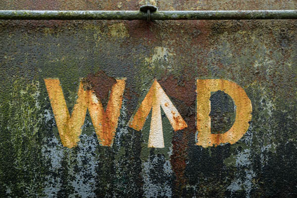 texture photography on old Bristol tanker train