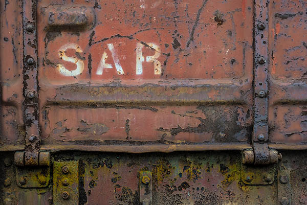 texture on south african railway train