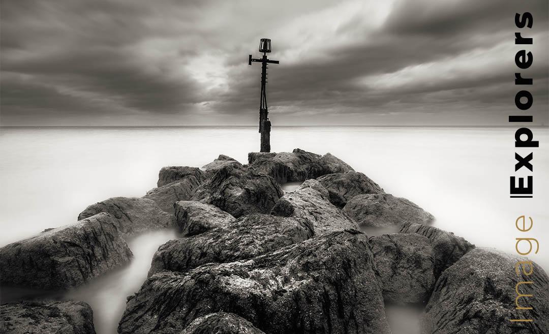 Cromer pier Norfolk photograph like Michael Kenna