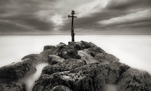 Cromer pier Norfolk photograph like Michael Kenna