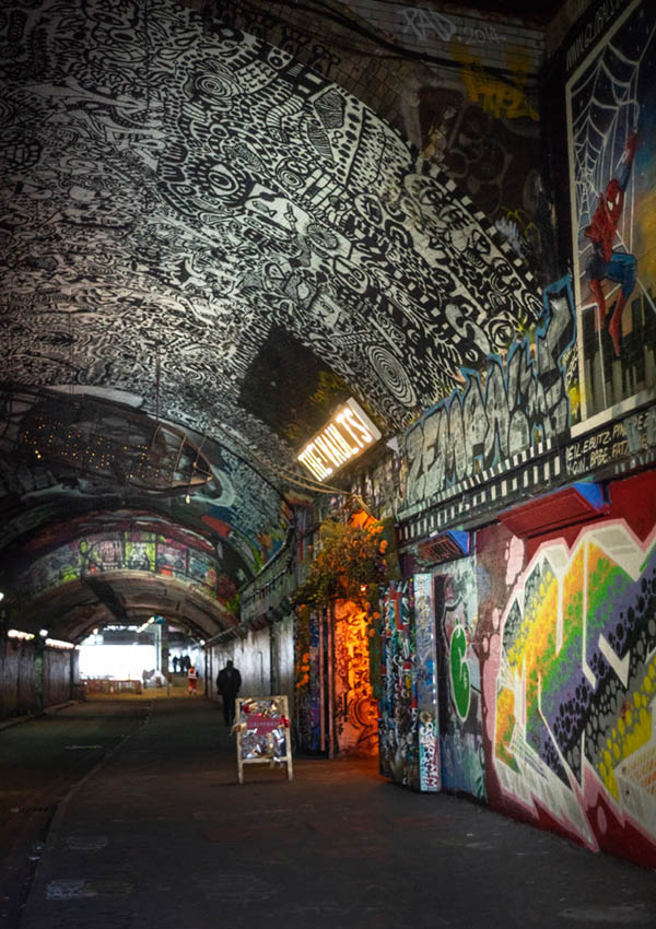The Vaults, Leake Street, London where you can safely photograph a secret place