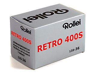 rollei retro 400s black and white film
