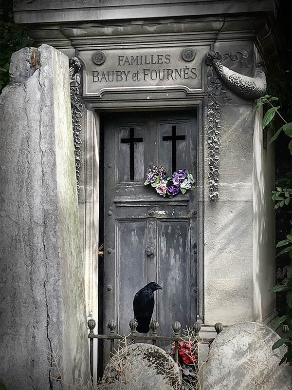 Paris Graveyard with Raven