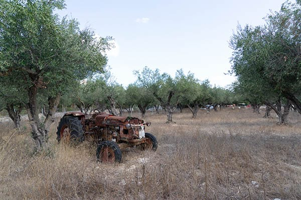 Original tractor before ageing process
