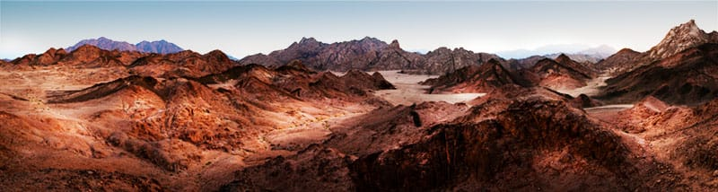 How to photograph a Panorama in the Sinai desert