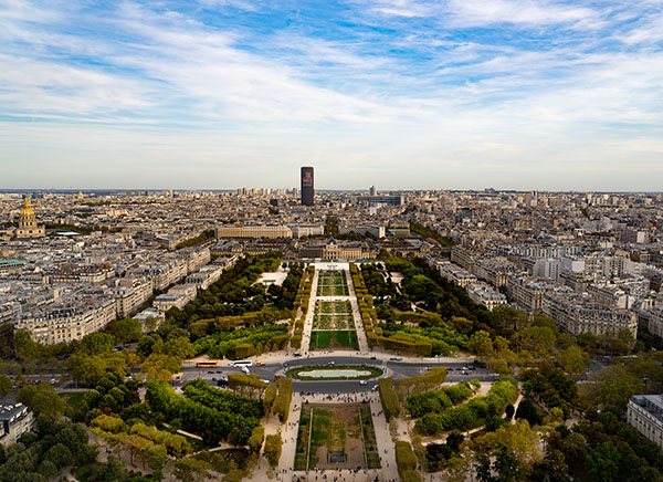 Parish photographed from the Eiffel tower