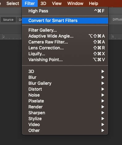 convert to smart filter for non destructive sharpness