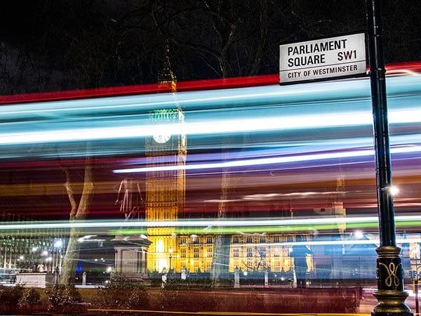 London Bus Blur long exposure