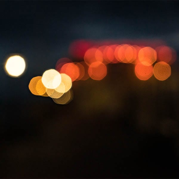 defocused image to show bokeh