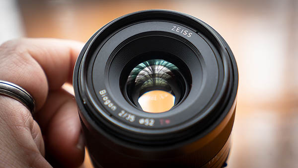 wide aperture shown on lens