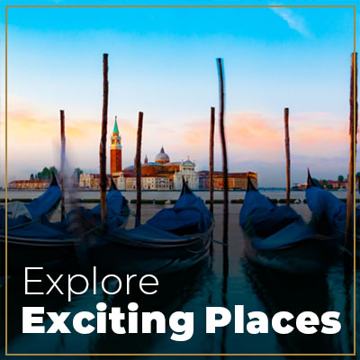 Explore exciting places venice gondola