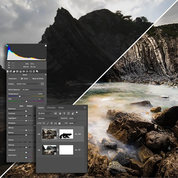 How to edit jurassic coast photographs