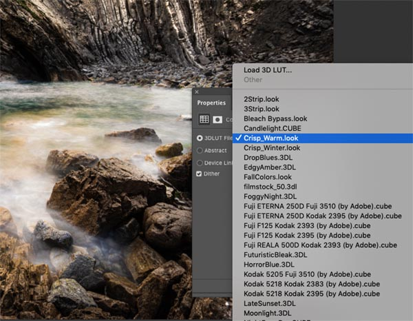 Adjustment layer Out settings